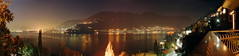 Lago di Como night Panorama
