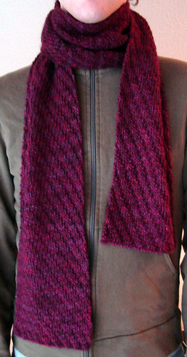 Ribbed Scarf Pattern. Tipsy Rib Scarf: The Scarf of