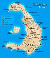 Bentuk Pulau Santorini