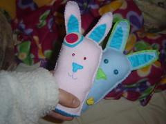 2 coelhos para 2 bebés que ainda não conheço