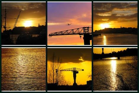 Couché de soleil sur Nantes ...
