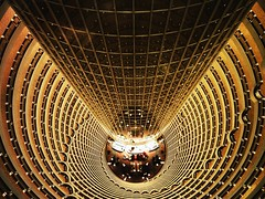 200402 (zTransmissions) Tags: china light building tower golden view shanghai jin hilton grand mao hyatt prc pudong atrium zhongguo blueribbonwinner golddragon abigfave platinumphoto colorphotoaward goldenphotographer theunforgettablepictures lppatterns platinumsuperstar lpsymmetry