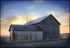 Ohio Sunrise (SerialCoder) Tags: ohio barn sunrise canon glenwood rebelxt hdr perrysburg
