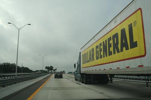 dollar general truck. Dollar General truck on I-275