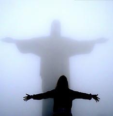 I know He is there, even if I can't see Him (AnnuskA  - AnnA Theodora) Tags: brazil topf25 brasil riodejaneiro bravo topf300 cristoredentor christtheredeemer topf100 topf200 1000views 100faves 3000v120f abigfave shieldofexcellence cloudsnotfog adrianaandthestatue favemegroup3 favemegroup9 world100f megatopofthefog
