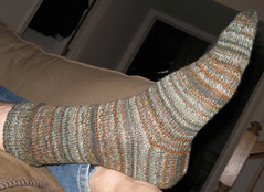 Plain Winter Sock Modeled