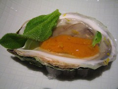 oyster, uni, ice plant, citron