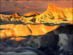 Morning light on Zabriskie Point (katepedley) Tags: california morning light usa contrast america sunrise dawn golden nationalpark desert tripod panasonic valley deathvalley zabriskiepoint sedimentary fz30 furnacecreek gndfilter manlybeacon specland forlds
