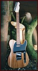 Tele in Zebrano (voigtlander) Tags: guitar fender tele telecaster zebrano