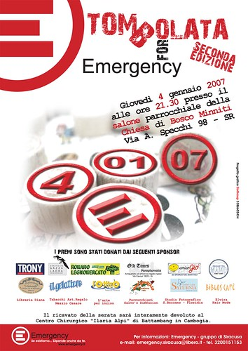 II Ediz. Tombolata per Emergency!