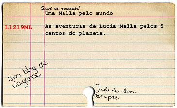 Cartão de biblioteca Malla