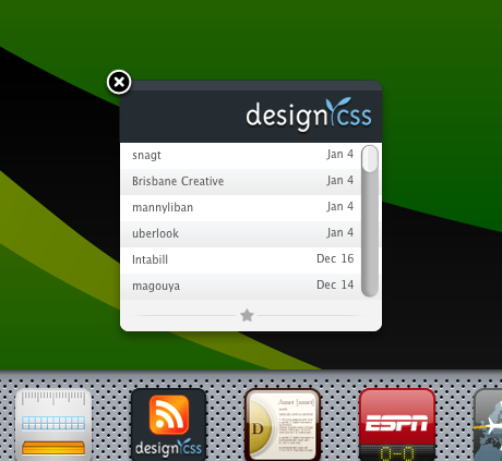 Design Css Dashboard Widget