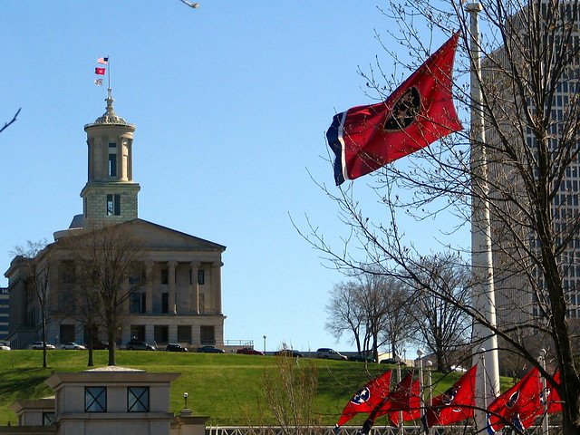 TN Capitol and Bicentennial Mall Flags