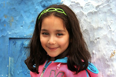 darling (.michaelchung) Tags: africa street cute girl sweet shy morocco michaelchung chefchaouen darling