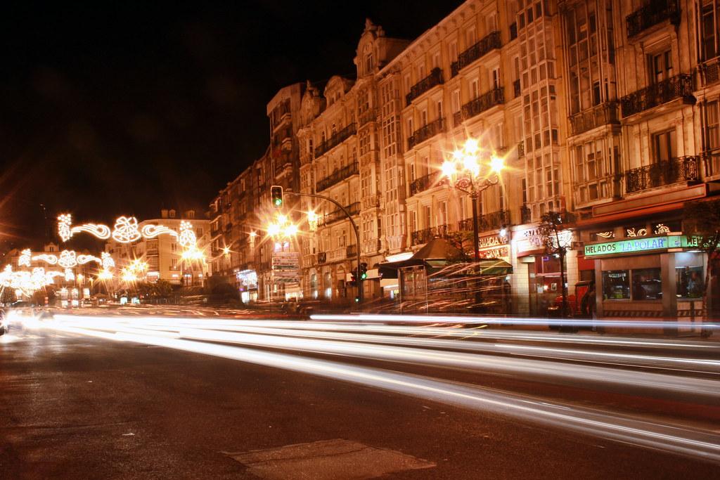 Photo de Cantabrie n°10. Ville de Santander vue de nuit
