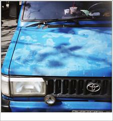 a blue car