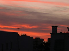 burning morning sky (elmina) Tags: morning sky tunisia menzah