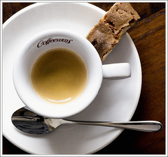 Cafe e Cantuccini (DHJ.V) Tags: brown white cup coffee still cookie spoon drinks espresso stills saucer cantuccini 10faves dhjv gtaggroup goddaym1 coffeeway