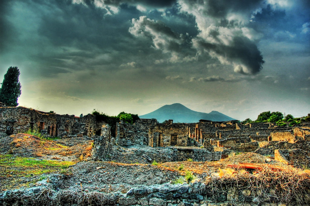 The Ruins of Pompeii and Mount Vesuvius