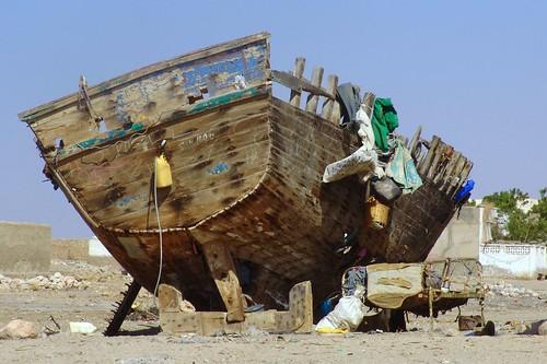 Old boat in Berbera dry dock