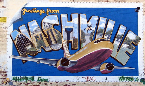 Nashville Post Card / Southwest Airlines mural