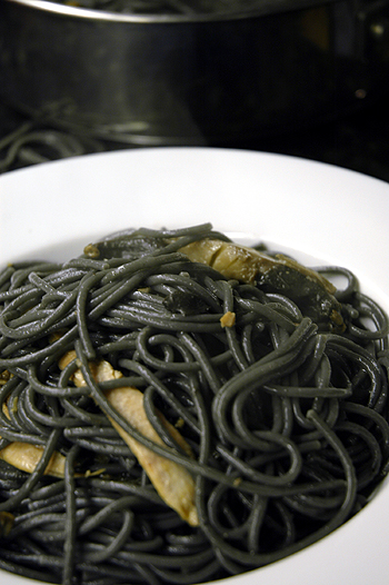 Squid Ink Pasta with Ventresca Tuna