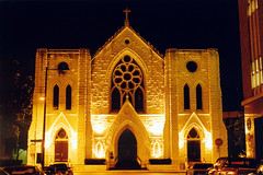 St Patrick's Cathedral, Ft Worth (StevenM_61) Tags: church architecture night catholic texas cathedral historical nightphoto fortworth gothicarchitecture