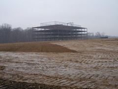 M-Square Building rising from the mud