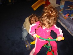 Playing in the basement with the tricycle_4