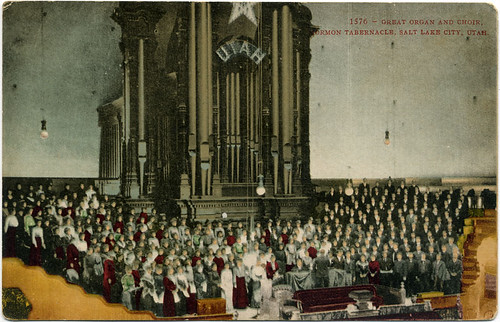 Postcard: Mormon Tabernacle Great Organ & Choir