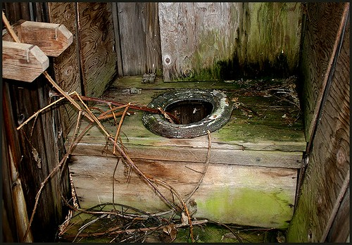 inside outhouse