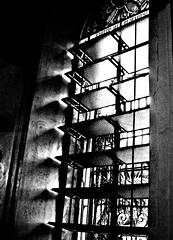 church window (jobarracuda) Tags: windows light bw church lumix philippines stainedglasswindow malatechurch fz50 panasonicfz50 impressedbeauty jobarracuda bwwindows churchinbw