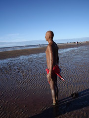 Iron Man (bigmoochie) Tags: man beach iron anthony crosby gromley gromleys