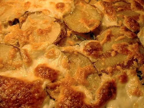 Potato, Rosemary, and Sage pizza
