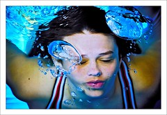 6.The Water Series. Be My Valentine (Servilles) Tags: blue portrait girl beautiful swim canon arty searchthebest earth daughter dive bubbles paloma 11 lips swimsuit 1ds eyesclosed swiming togs underwaterportrait theportrait peoplewater canon1dsmk2 thenewzealandphotographersgroup