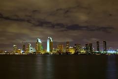 Downtown - San Diego - California - 12 February 2007 (goatlockerguns) Tags: california city longexposure usa southwest west water night america lights bay downtown sandiego unitedstatesofamerica coronado