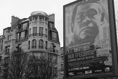 The Last King of Paris (TwoCrabs) Tags: bw paris france architecture blackwhite europe movieposter february 2007 forestwhitaker lastkingofscotland