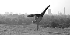 Capoiera - Primrose Hill (Photosmudger) Tags: blackandwhite london dance movement action hill nikond100 martialarts brazilian balance drama poised fit capoiera primrose 3570mmf28