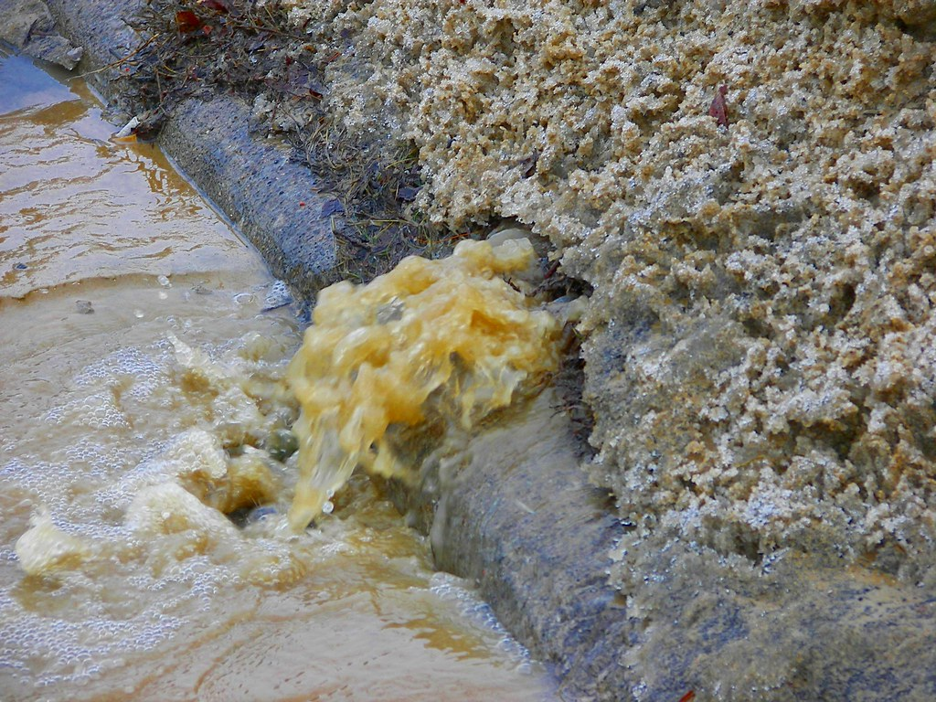 Water main break on Secor Road near Laskey in Toledo, Ohio