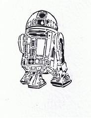 R2D2 Stencil prototype  R2d2 Stencil