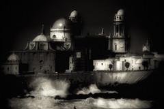 Dark Shores 2 (Ryan G Mason) Tags: ocean blackandwhite spain cathedral andalucia espana cadiz oceancathedral