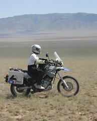 'Beau Geste' and me on the way to Bartagoy lake, Almaty mountains, Kazakhstan