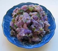 Leftover purple potato salad
