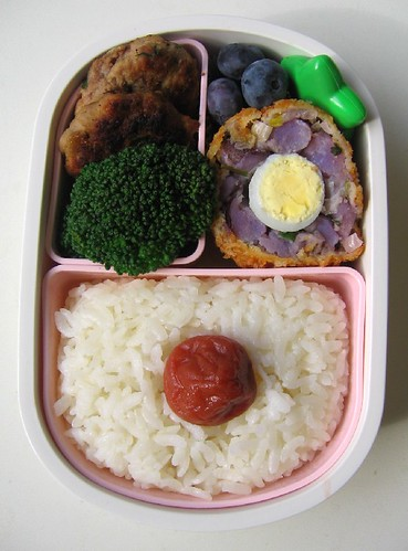 Potato salad Scotch egg lunch お弁当
