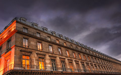 Dramatic Sky On Avenue de Rivoli (David Giral | davidgiralphoto.com) Tags: old david paris france building architecture de nikon bravo europe cloudy dusk louvre perspective d200 avenue hdr rivoli giral photomatix nikond200 18200mmf3556gvr tthdr copyrightdgiral davidgiral superbmasterpiece bestofr
