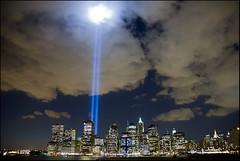 Tribute in Lights (jeanne.lopez) Tags: nyc newyork skyline memorial worldtradecenter 911 wtc superaplus aplusphoto superhearts ultimateskyscrapershots