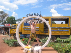 Hubbers on equator in Uganda