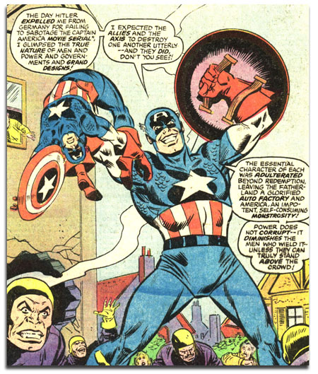 Captain America #221 - Ameridroid beats up Cap!