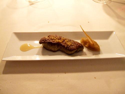 l'Aubergade (Puymirol, France) - Le foie gras chaud poele au cedrat