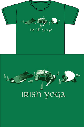 Irish Yoga T-shirt logo